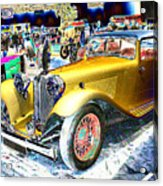 Psychedelic 1930 Jaguar Ss1 At London Classic Car Show 2015 Acrylic Print