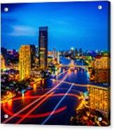 Psychedelic Bangkok Thailand Acrylic Print