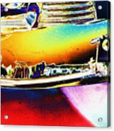 Psychedelic Chevy Bumper Acrylic Print