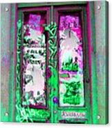 Psychedelic Door Acrylic Print