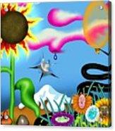 Psychedelic Dreamscape I Acrylic Print