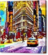 Psychedelic Flatiron Surroundings Acrylic Print