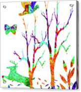 Psychedelic Forest Acrylic Print