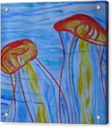 Psychedelic Lion's Mane Jellyfish Acrylic Print