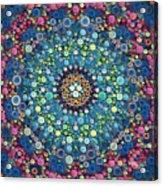 Psychedelic Mandala Acrylic Print