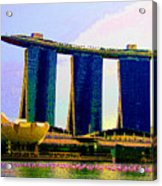 Psychedelic Marina Bay Sands Hotel Singapore Acrylic Print