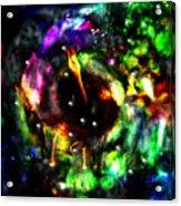 Psychedelic Rainbow Elephant Constellations Acrylic Print by Abram Lopez