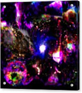 Psychedelic Rainbow Nebula Galaxy Universe Acrylic Print