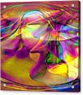 Psychedelic Sun Acrylic Print