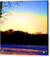 Psychedelic Sunrise On The Delaware River Acrylic Print