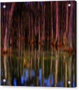 Psychedelic Swamp Trees Acrylic Print