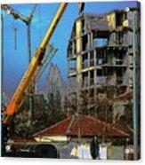 Psycho Plovdiv Crane Acrylic Print