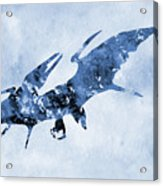 Pterodactyl-blue Acrylic Print