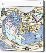 Ptolemaic World Map, 1493 Acrylic Print