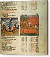 Ptolemy: Almagest, 1490 Acrylic Print