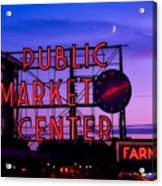 Public Market Center - Seattle Acrylic Print