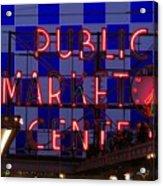 Public Market Checkerboard Acrylic Print