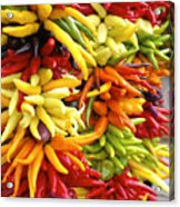 Public Market Peppers Acrylic Print