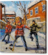 Puck Control Hockey Kids Created By Prankearts Acrylic Print