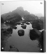 Puddle On A Misty Hill Acrylic Print