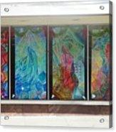 Pueblo Downtown Artwork Acrylic Print