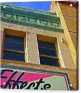Pueblo Downtown-screened Effects Acrylic Print