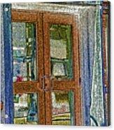Pueblo Downtown--thatcher Building Door Acrylic Print