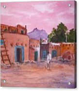 Pueblo In Pink Acrylic Print