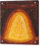 Pueblo Kiva Fireplace Original Painting Acrylic Print