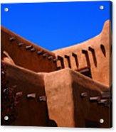 Pueblo Revival Style Architecture In Santa Fe Acrylic Print