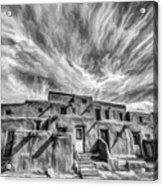 Pueblo Storm Clouds Acrylic Print