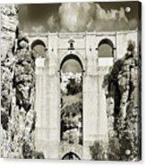 Puente Nuevo Tajo De Ronda Andalucia Spain Europe Acrylic Print