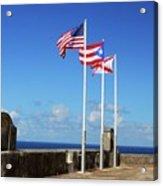 Puerto Rican Flags Acrylic Print