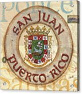 Puerto Rico Coat Of Arms Acrylic Print