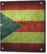 Puerto Rico Distressed Flag Dehner Acrylic Print