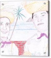 Puertorican Friends Acrylic Print
