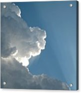 Puffy White Clouds Acrylic Print