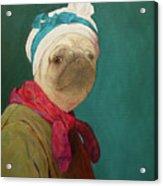 Pugdin Self-portrait Acrylic Print
