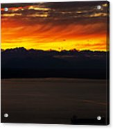 Puget Sound Olympic Mountains Sunset Acrylic Print