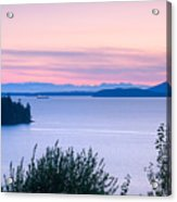Puget Sound Twilight Acrylic Print