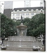 Pulitzer Fountain Acrylic Print