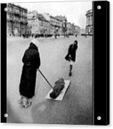 Pulling Dead Body Siege Of Leningrad Soviet Union 1941 Acrylic Print