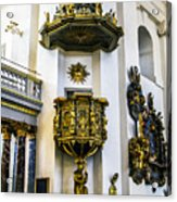 Pulpit Kalmar Cathedral Acrylic Print