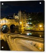 Pulteney Bridge At Night Acrylic Print by Trevor Wintle