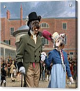 Pumi Art Canvas Print - Settling Day At Tattersalls Acrylic Print