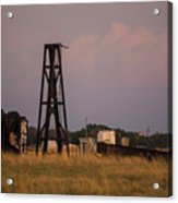 Pump Jack Golden Hour Acrylic Print
