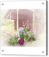 Pump With Flowers Brazeau Acrylic Print