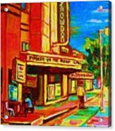 Pumperniks And The Snowdon Theatre Acrylic Print