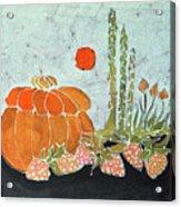 Pumpkin And Asparagus Acrylic Print