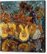Pumpkin And Sea Buckthorn  Acrylic Print